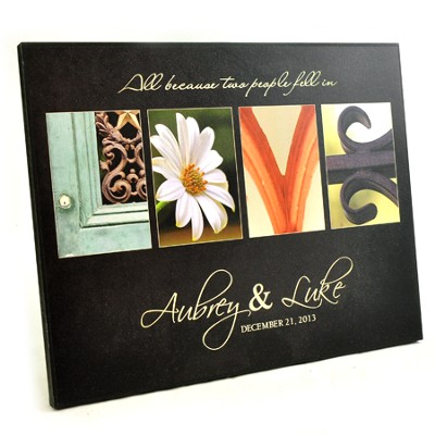 Personalized, Love Plaque, All Because Two People Fell In Love, Square  -