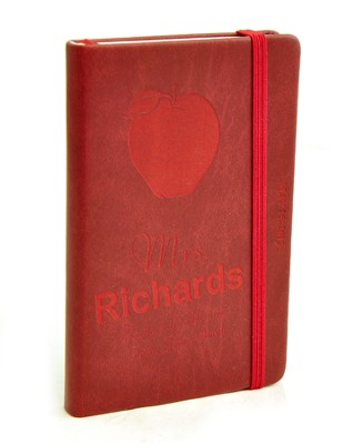 Personalized, Notebook, Teachers Are a Blessing,   Burgundy  -