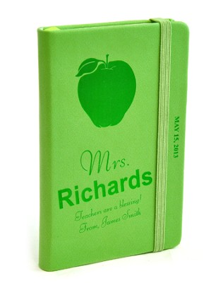 Personalized, Notebook, Teachers Are a Blessing, Green  -