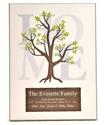 Personalized, Family Tree Plaque, Large   -