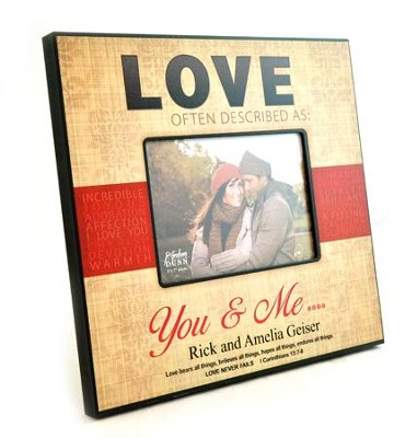 Personalized, Photo Frame, Love, Large   -