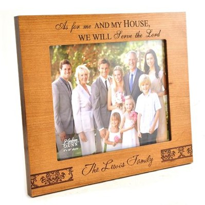 Personalized, Photo Frame, Large, Natural Wood, As    For Me and My House  -