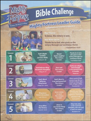 Mighty Fortress VBS: Victory Village Bible Challenge Guide (CD)   -