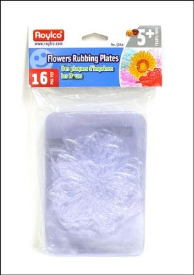 Flowers Rubbing Plates (package of 16)   -