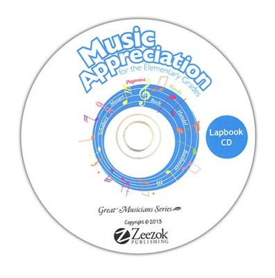Music Appreciation for the Elementary Grades Lapbook CD-ROM  -