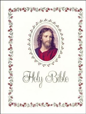 NABRE Catholic Family Bible, Slipcased Signature Edition, White  -