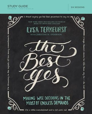The Best Yes Study Guide - eBook  -     By: Lysa TerKeurst