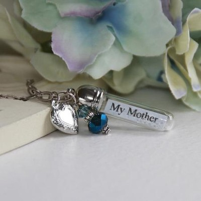 My Mother, My Friend, Message In A Bottle Necklace  -