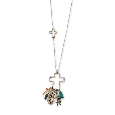 Angel Charms Drop Necklace  -