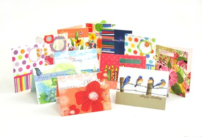 Birthday Cards, Assorted, Set of 12   -