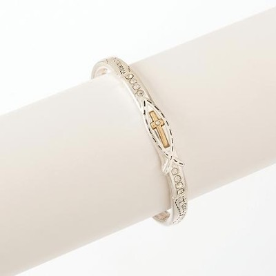Serenity, Stacked Bracelet, Silver  -