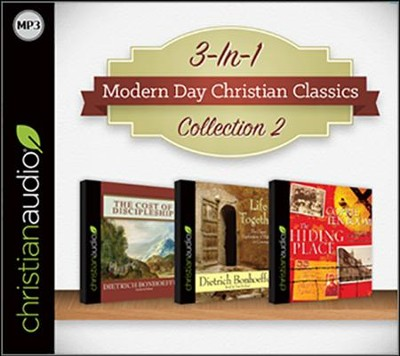 Modern Day Christian Classics Collection 2 on MP3-CD (Life Together, The Cost of Discipleship, and The Hiding Place)  -     By: Dietrich Bonhoeffer, Corrie ten Boom