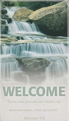 Waterfall Welcome Pew Cards, 50   -