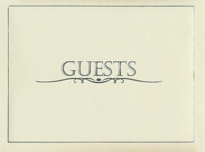 Guest Book with Pen - Small, Cream    -