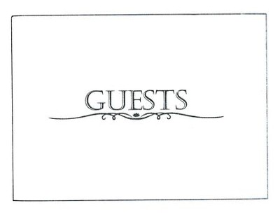 Guest Book with Pen - Small, White   -