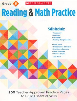 Reading and Math Practice  (Grade 5)                   5): 200 Teacher-Approved Practice Pages to Build  -     By: Martin Lee, Marcia Miller