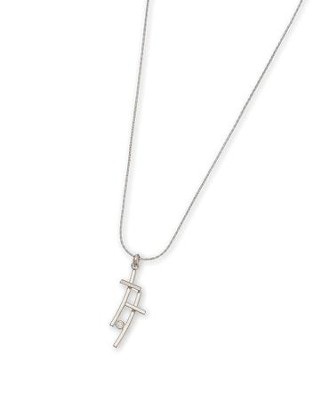 Double Geo Cross Pendant Necklace  -
