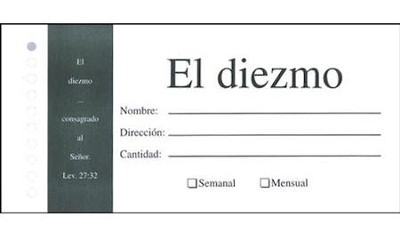 Bill Size Tither--Spanish Offering Envelope (pkg. of 100)  -