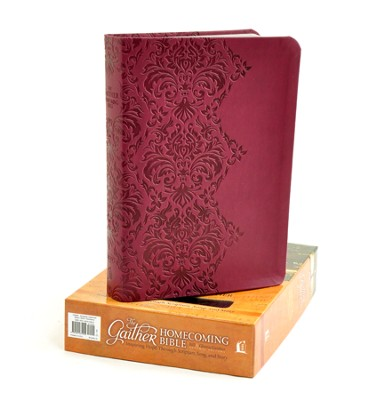 NKJV Gaither Homecoming Bible, Leathersoft, burgundy  -     Edited By: Bill Gaither, Gloria Gaither