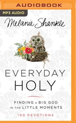Everyday Holy: Finding a Big God in the Little Moments - unabridged audiobook on MP3-CD  -     By: Melanie Shankle