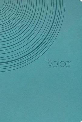 The Voice Bible: Step Into the Story of Scripture--soft leather-look, peacock blue  -