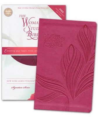 NKJV The Woman's Study Bible Personal-Size--soft leather-look, cranberry  -