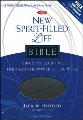 NKJV New Spirit Filled Life Bible, Leathersoft, charcoal  -     Edited By: Jack Hayford