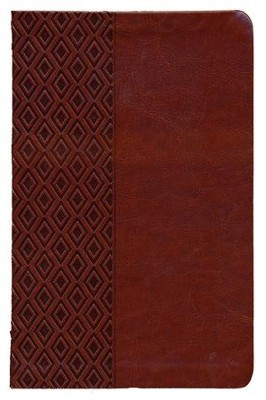 NKJV Center Column Reference Bible, Imitation leather, Mediterranean brown  -