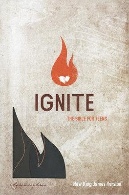 NKJV Ignite: The Bible for Teens, Leathersoft, earth brown  -