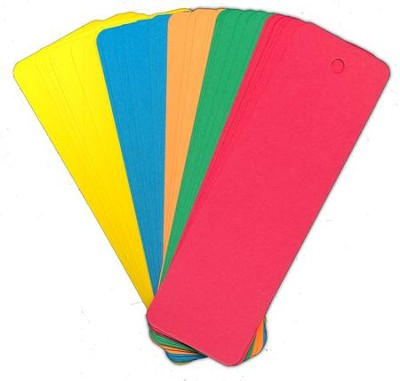 Blank Bookmarks Primary Assorted  -