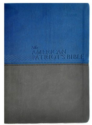 NKJV American Patriot's Bible, Large Print, Soft leather-look, blue - Slightly Imperfect  -