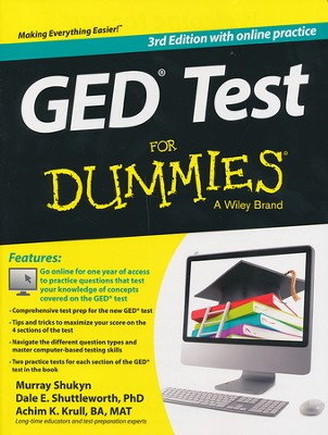 GED Test For Dummies (with Free Online Practice Tests)  -     By: Murray Shukyn, Dale E. Shuttleworth, Achim Krull