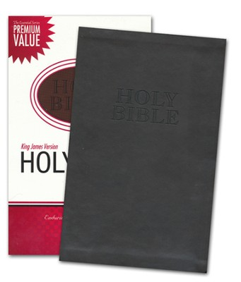 KJV Ultraslim Bible, Leathersoft, cocoa  -