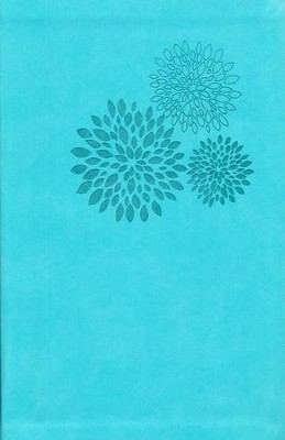 NKJV Personal Size Giant Print Reference Bible, Leathersoft, turquoise  -