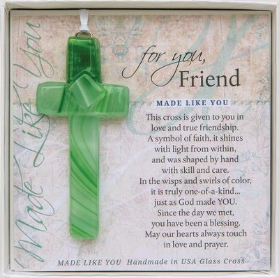 Friend, Hanging Cross, Green  -