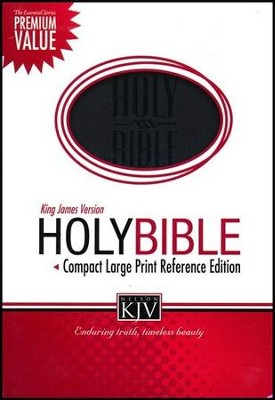 KJV Compact Large Print Reference Bible, Leathersoft, black  -