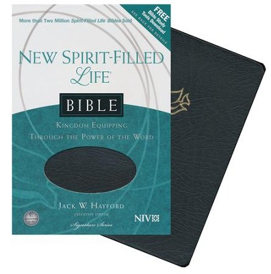 NIV New Spirit Filled Life Bible--bonded leather, black  (indexed)  -     By: Jack Hayford