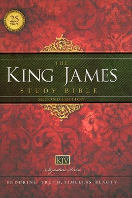 King James Study Bible, Second Edition, Hardcover  - Slightly Imperfect  -