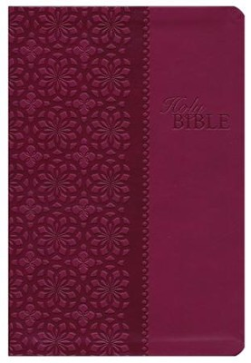 King James Study Bible, Second Edition, Leathersoft, Cranberry  -