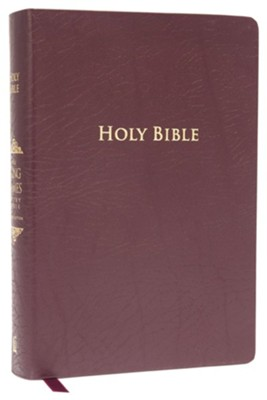 King James Study Bible, Second Edition, Bonded Leather, Burgundy--indexed - Imperfectly Imprinted Bibles  -