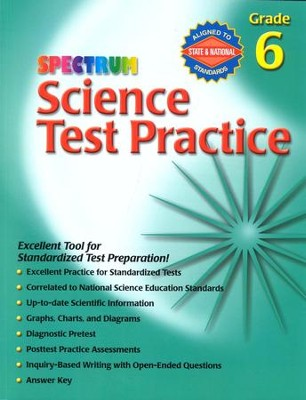 Spectrum Science Test Practice Grade 6   -