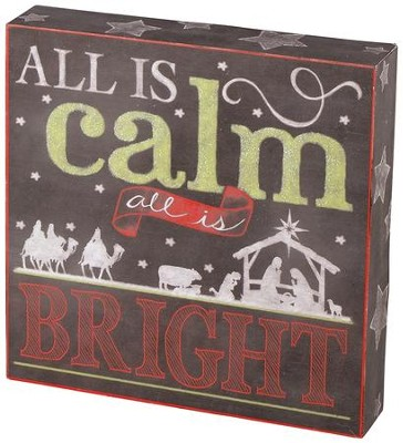 All Is Calm, All Is Bright Tabletop Block  -