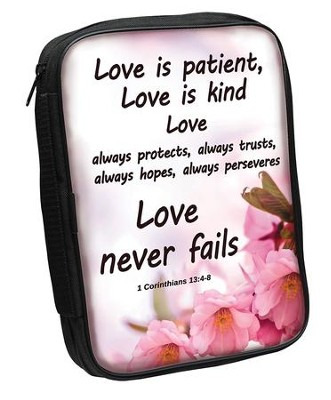 Love Never Fails Bible Cover  -