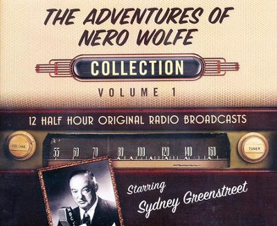 The Adventures of Nero Wolfe Collection, Volume 1 - 12 Half-Hour Original Radio Broadcasts (OTR) on CD  -