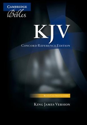 KJV Concord Reference Bible, black calfsplit leather  -