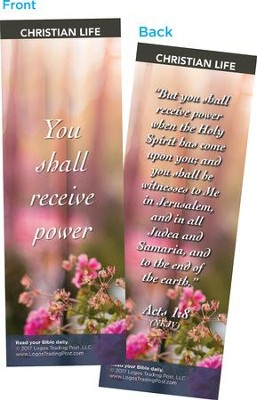 You Shall Receive Power Bookmarks, Pack of 25  -
