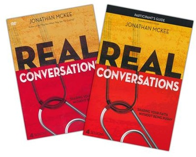 Real Conversations Participant's Guide with DVD: Sharing Your Faith Without Being Pushy  -     By: Jonathan McKee