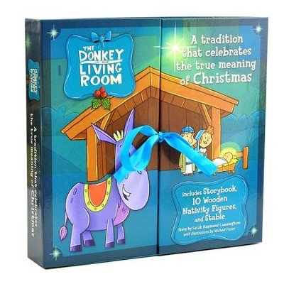 The Donkey in the Living Room Nativity Set  -