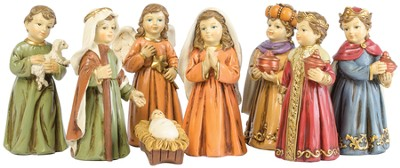 Children Nativity Set 8 Pieces   -