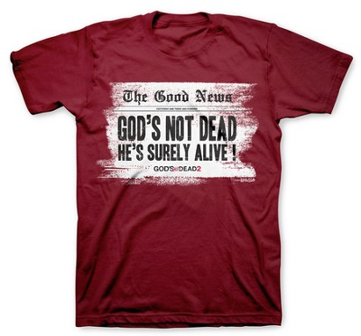 Headline, God's Not Dead Shirt, Red, XX-Large  -